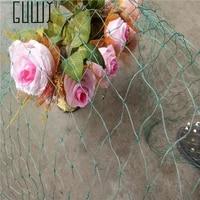 2m5m plastic mesh vine plants garden fence mesh garden ornaments green and blue gardening net