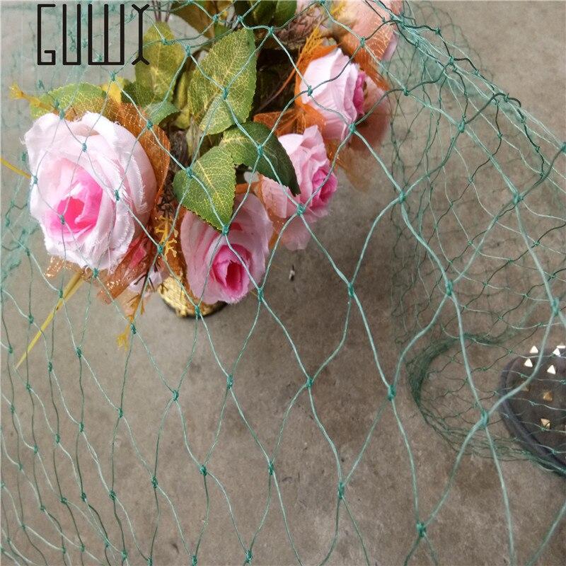 Malha de plástico para jardinagem, cerca de 5 m para plantas e jardim, rede de jardinagem verde e azul
