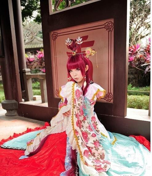 Лабиринт волшебных волос кулон Kougyoku Рен принцесса косплей Золотая булавка