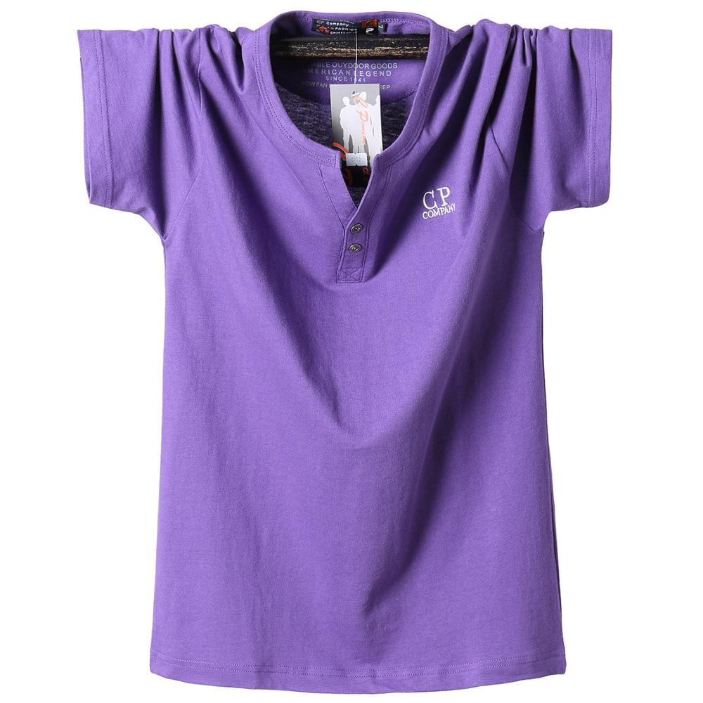 El tipo gordo de talla grande 5XL 6XL 7XL 8XL 95% algodón pantalón corto casual manga larga Camiseta de los hombres camiseta de tenis suave púrpura verde 120kg 130kg 140kg