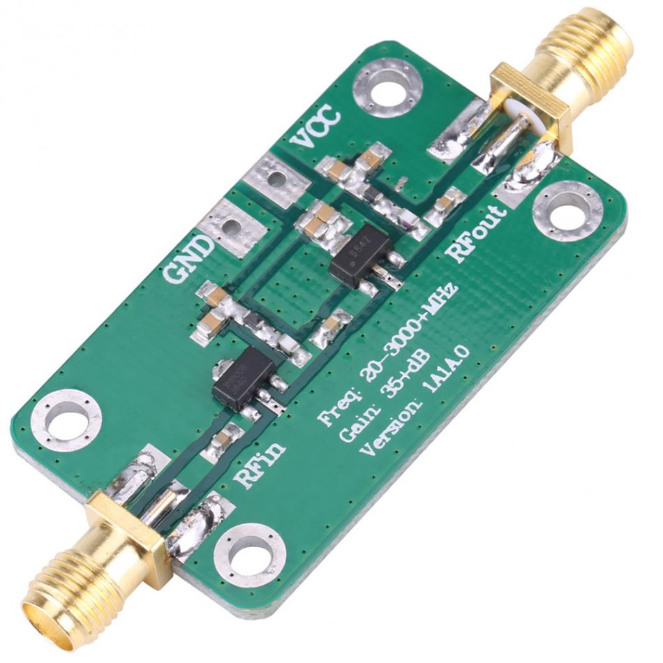 20-3000MHz Wideband RF Low Noise Amplifier Radio Frequency LNA Gain: 35dB Transmitter RF Power amplifier Ham radio module