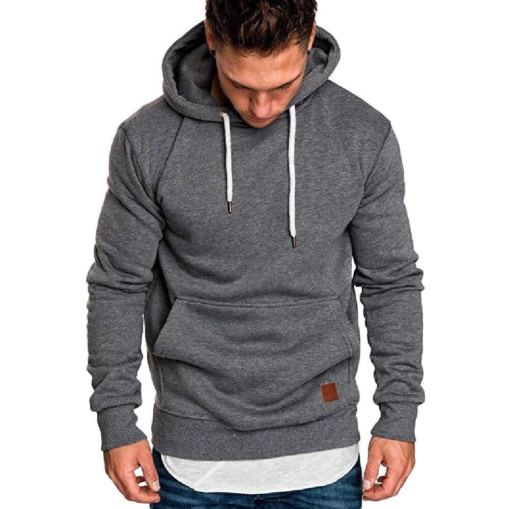 Sweatshirt Men 2019 NEW Hoodies Brand Male Long Sleeve Solid Hoodie men Black Red big size poleron hombre sudaderas hombre
