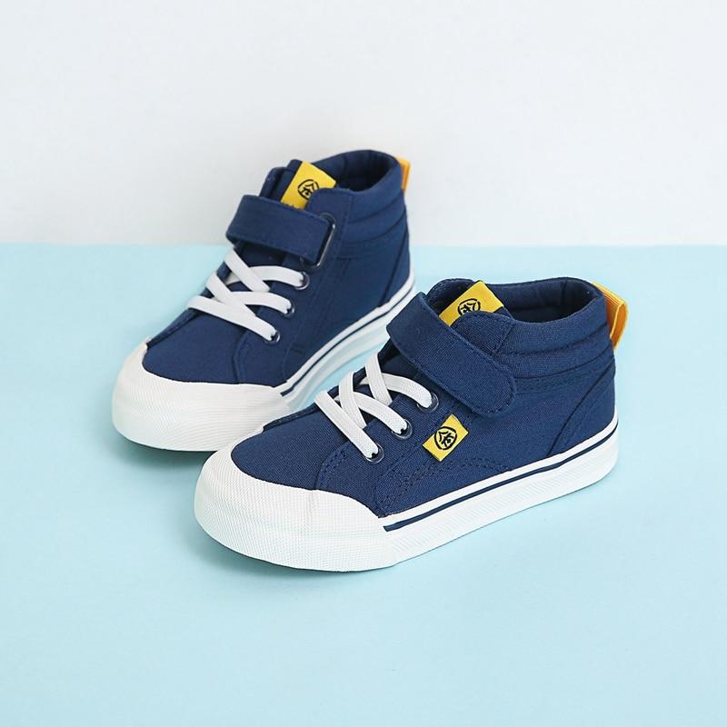 Zapatillas deportivas transpirables para niños marca zapatos infantiles para niñas Jeans Denim 2018 lona zapatos para niños zapatos casuales de lona plana para niños