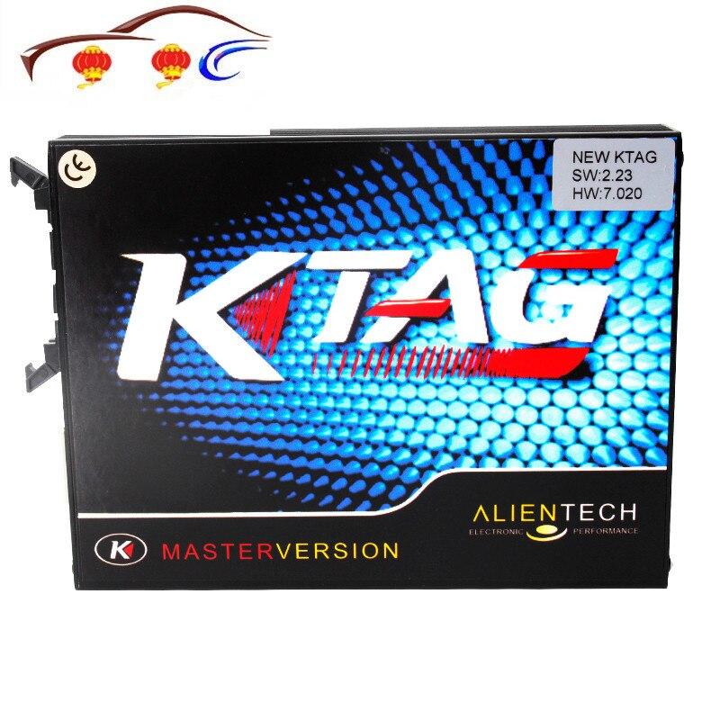 أداة البرمجة KTAG 7.020 K-TAG ECU ، الإصدار الرئيسي مع عدم وجود قيود رمزية V7.020 KTAG الوحدة الرئيسية K TAG ECU Chip Tunning