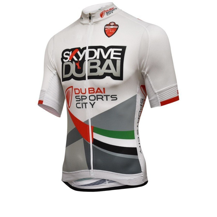 Pro team Skydive DUBAI Ciclismo maillot bicicleta transpirable Ropa Ciclismo MTB manga corta bicicleta solamente tela