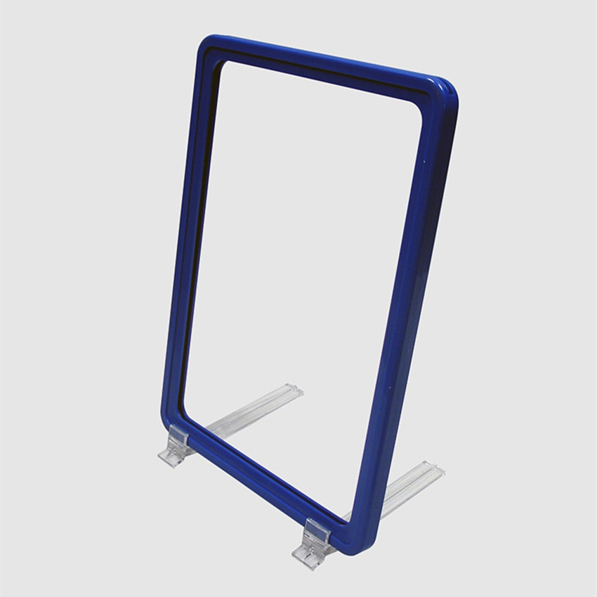 Plastic POP Promotion Poster Paper Sign Display Frame A6 Color Chosen Available With Support Stand 300 Sets Used In Supermarket