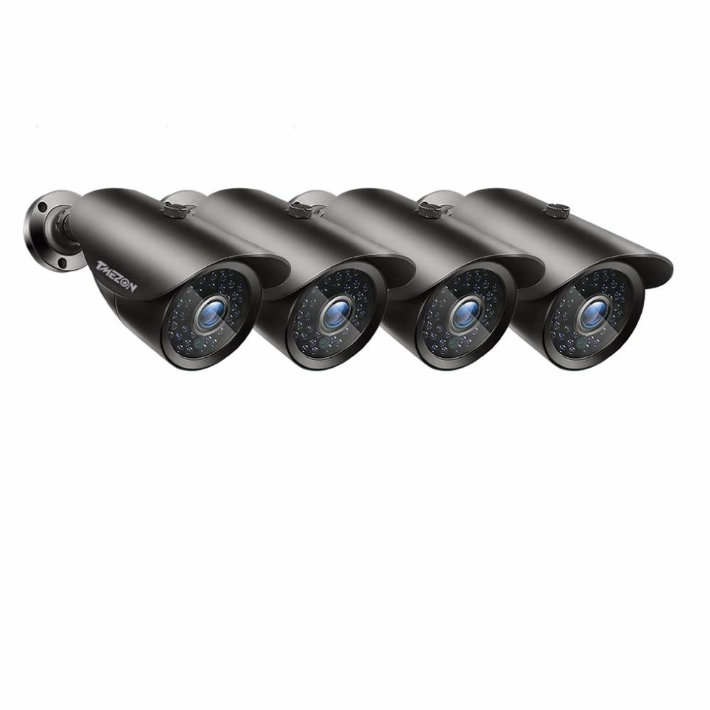 Tmezon HD 800TVL 1200TVL камера Bullet CCTV камера видеонаблюдения наружная Автомобильная ИК-камера ночного видения 4 шт. комплект с кабелем