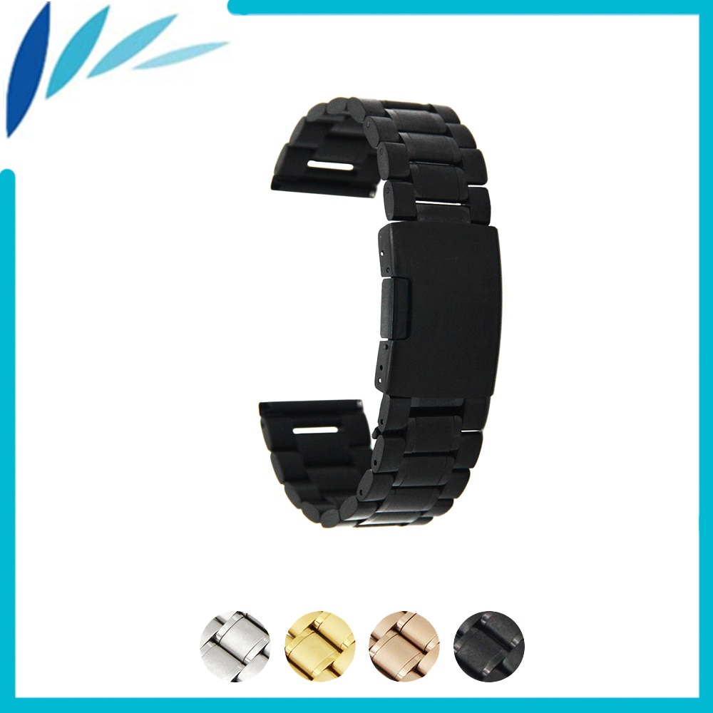 Stainless Steel Watch Band 14mm 16mm 18mm 19mm 20mm 21mm 22mm 24mm for Fossil Watchband Strap Wrist Loop Belt Bracelet Silver