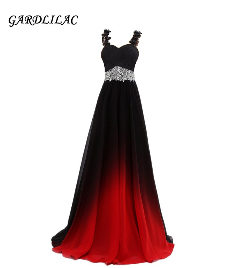 Gradient Chiffon Evening Dresses Vestido Longo Schadenfreude Beaded Long Prom Dress 2021 Plus Size Woman Gown