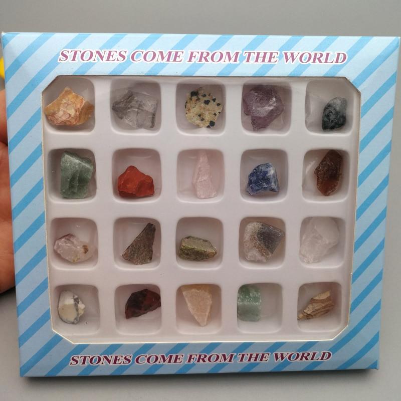 Piedra de mezcla natural de cristal Mineral especímenes minerales geología enseñanza ciencia Popular Material de regalos para los niños