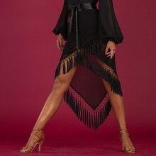 black tassel latin Hip towel latin dance skirt tango skirt women salsa skirt latin dance wear dancing skirt of woman