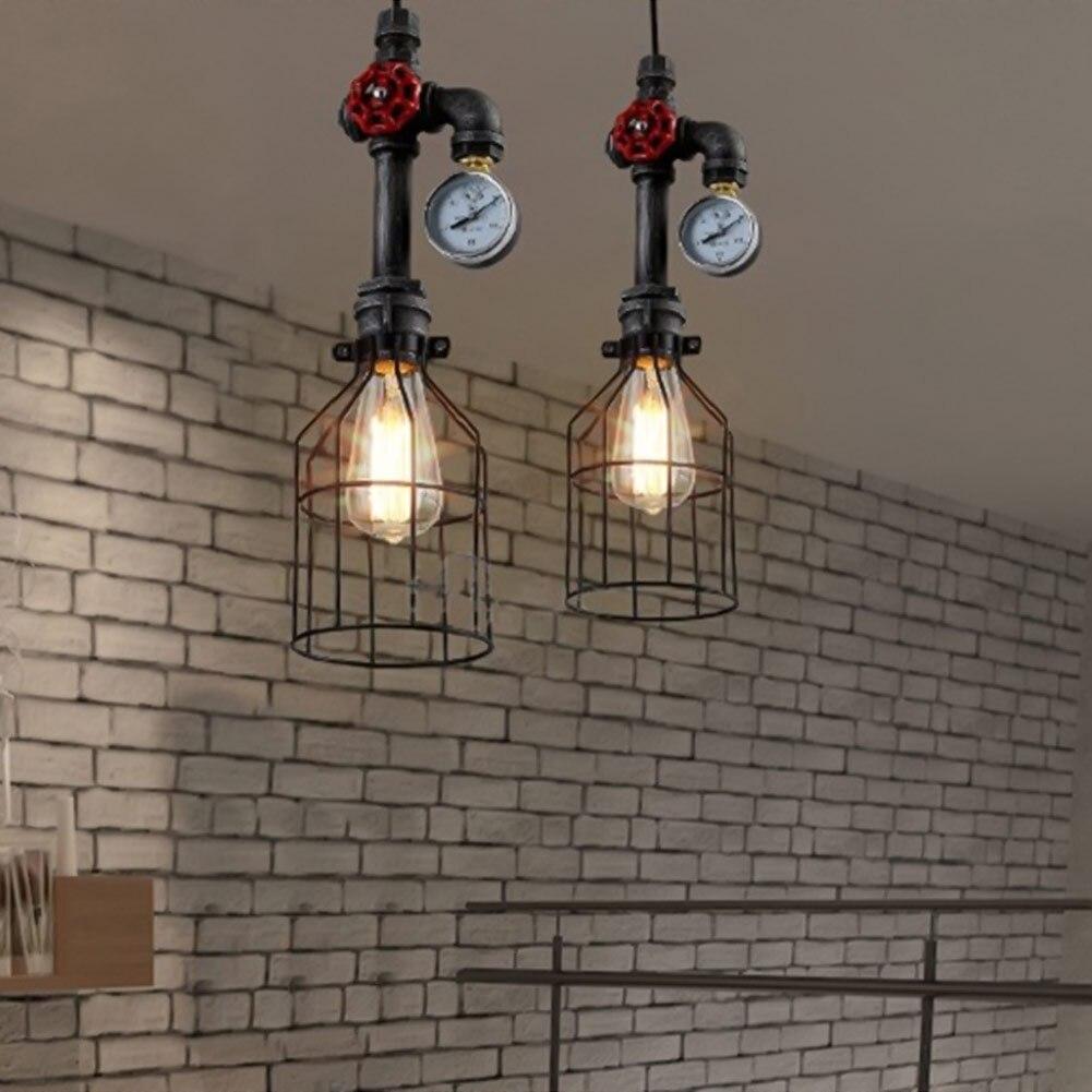 Coquimbo-مصباح معلق ريترو على طراز دور علوي E26/E27 ، أنبوب مياه صناعي عتيق ، تركيبات بار ، غرفة طعام ، غرفة معيشة