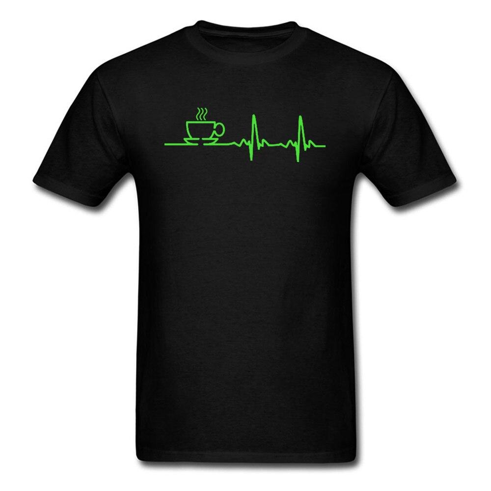 Morning Coffee heartwhile EKG, camisetas verdes, Software de ingeniero, Computre Not Today, camisetas para hombre, diseño de cuello redondo de algodón 100%