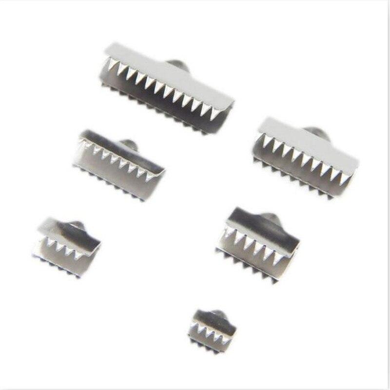 50 pçs/lote Fastener Fechos Finais 6.5 milímetros de Aço Inoxidável 8.5 milímetros 20mm Fit pulseira Conectores Colar De Cordão De Couro Liso DIY