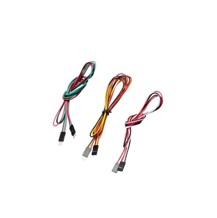 10 unids/lote 70cm 3pin cables de puente para placa de pruebas M-M macho a hembra F-F 2,54mm Cable DuPont línea para 3D impresora Bluetooth