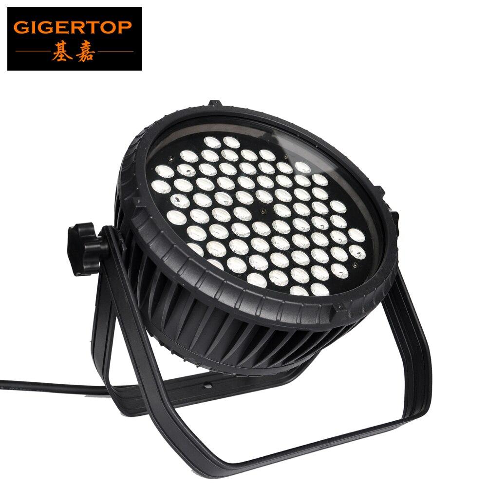 Gigertop, TP-P7203W, 72x3W, impermeable, inalámbrico, 2,4G, luz de escenario, Par Led RGBW, 4 colores brillantes, delgada, de aluminio, para vivienda, arandela de pared