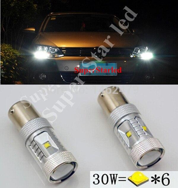 2 x Chips Canbus 1156 XBD, 12V, bombillas LED de coche, luces de circulación diurna para VW Volkswagen Jetta MK6 Scirocco Sharan SEAT