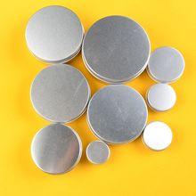 Échantillon de Pot cosmétique de maquillage vide portatif en Aluminium vide pour la livraison directe de métier de couvercle de vis de boîte dargent de récipient détain de Pot de crème