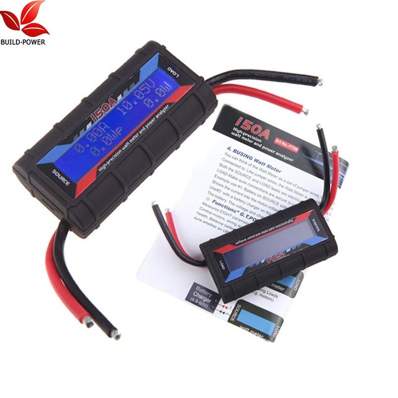 Build Power Current Power Analyzer 150A RC High Precision Power Analyzer & Watt Meter W/ Backlight LCD