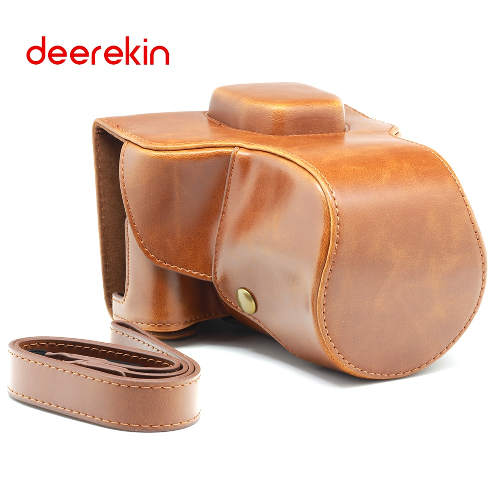 Bolso de cuero DEEREKIN PU con correa de hombro para cámara Digital Fuji Fujifilm X-T2/XT2/X T2 sin espejo