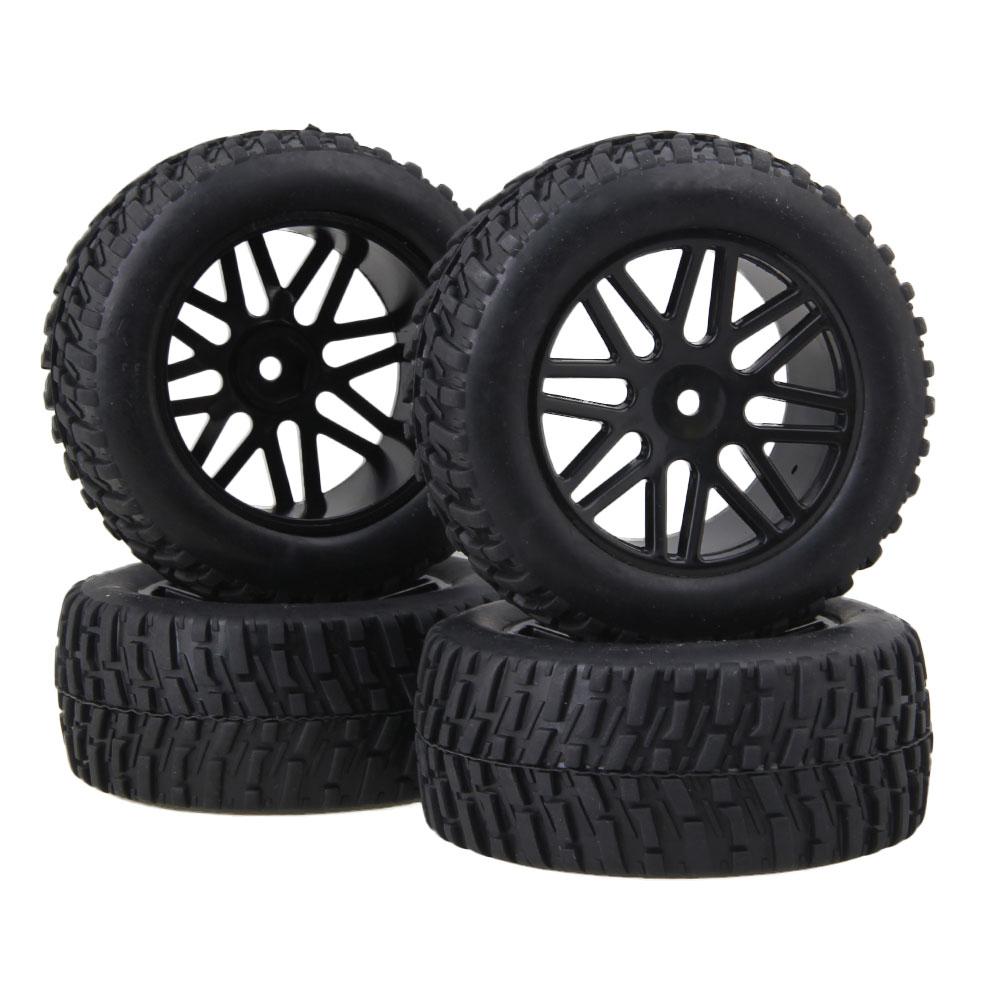 Mxfans 4PCS RC110 off-road short pneumatici per autocarri pneumatici Rally e nero 16-ruote a raggi