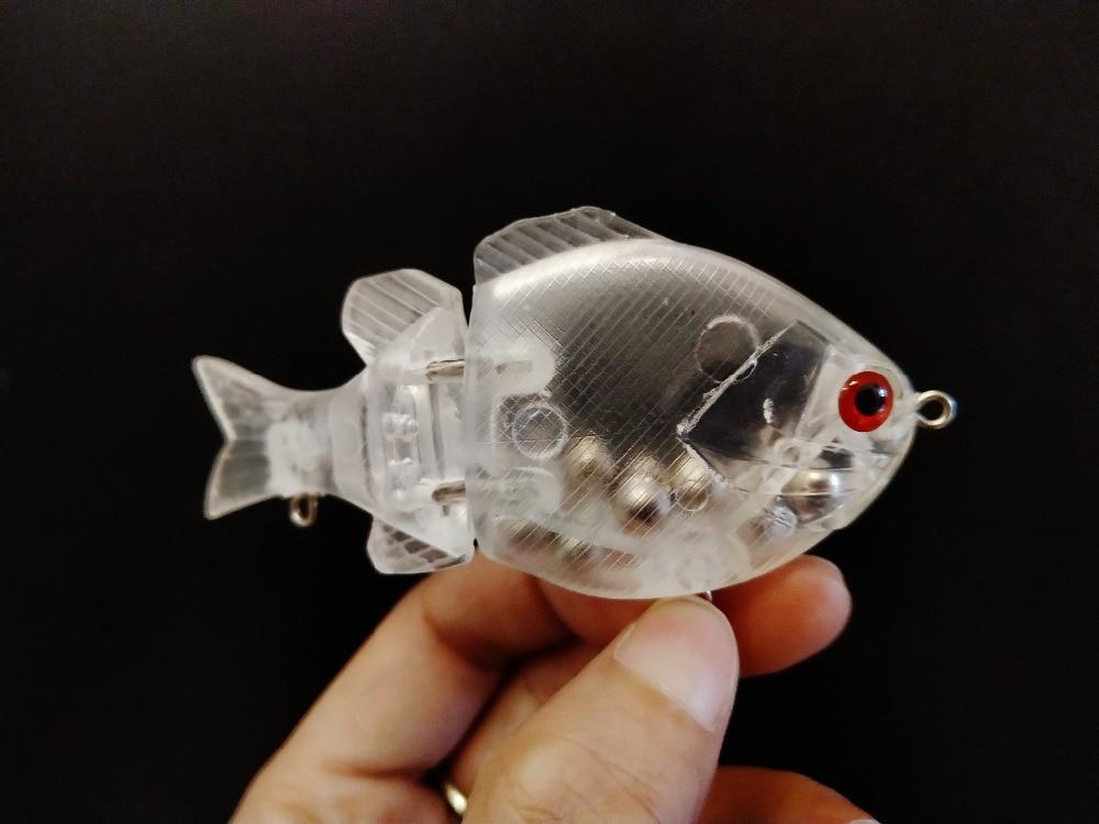 "GYFISHING 15 Pcs 2-Jointed Unpainted Sunfish Fishing Slow Sinking Swimbaits Bulegill Hard Baits 3.5"""