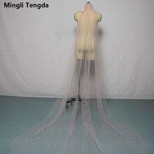 Mingli Tengda rose mariée voiles avec peigne une couche 3 M Long voile cathédrale mariage voile mariée voile Sluie Velo De Novia bord coupé