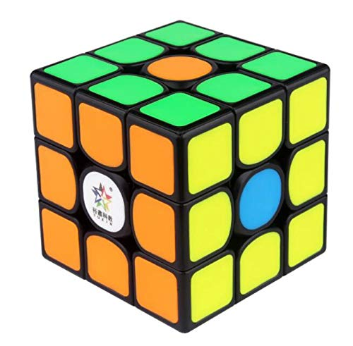 CuberSpeed Yuxin Kylin 3x3 V2 M Cubo de magia negra Yuxin 3x3x3 V2M Speed cubo rompecabezas