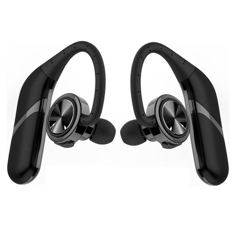 1 par 2 piezas TWS Bluetooth inalámbrico Kit manos libres coche impermeable deporte auricular colgante estéreo Bilateral