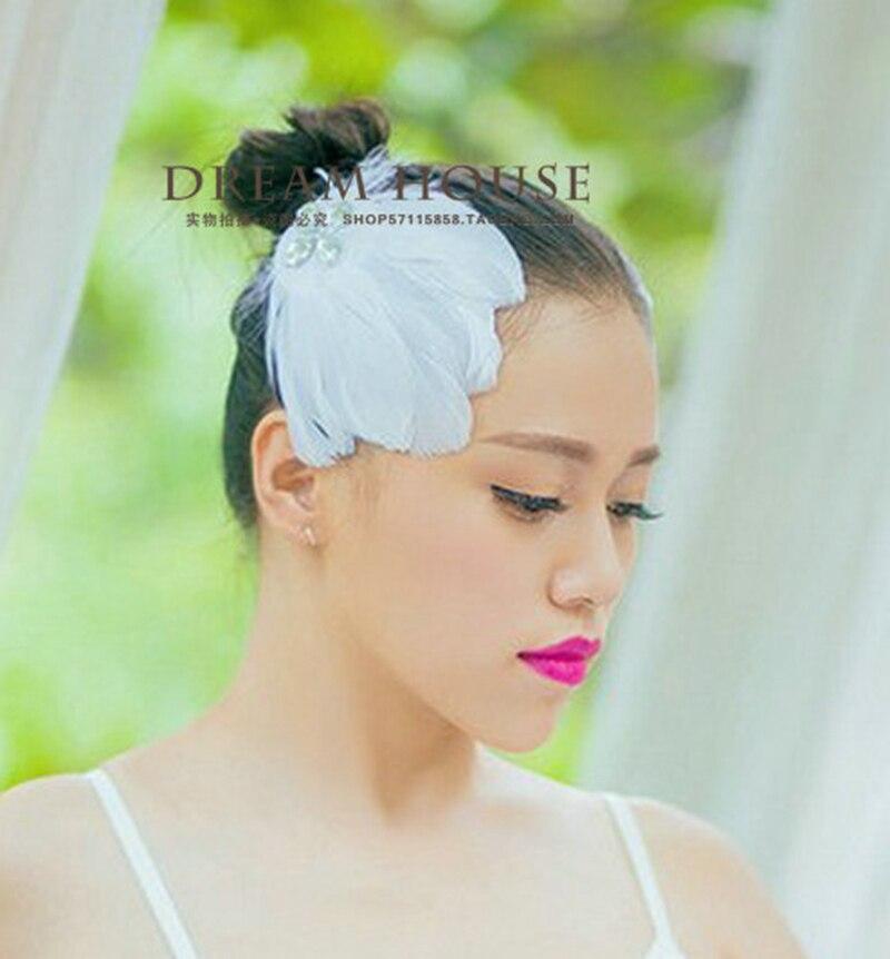 1 Uds., diadema blanca de plumas de Ballet con diseño de Lago de los cisnes para mujer, diadema de plumas de Príncipe para tutú y Ballet, tiara de boda
