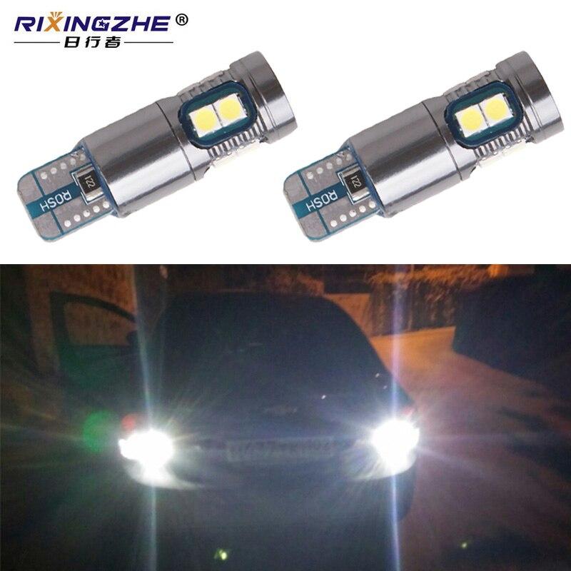 RXZ 2 uds canbus T10 194 268 bombillas LED blancas 3030 9SMD W5W bombillas LED luces traseras de estacionamiento 12V 6000K lámpara de señal blanca