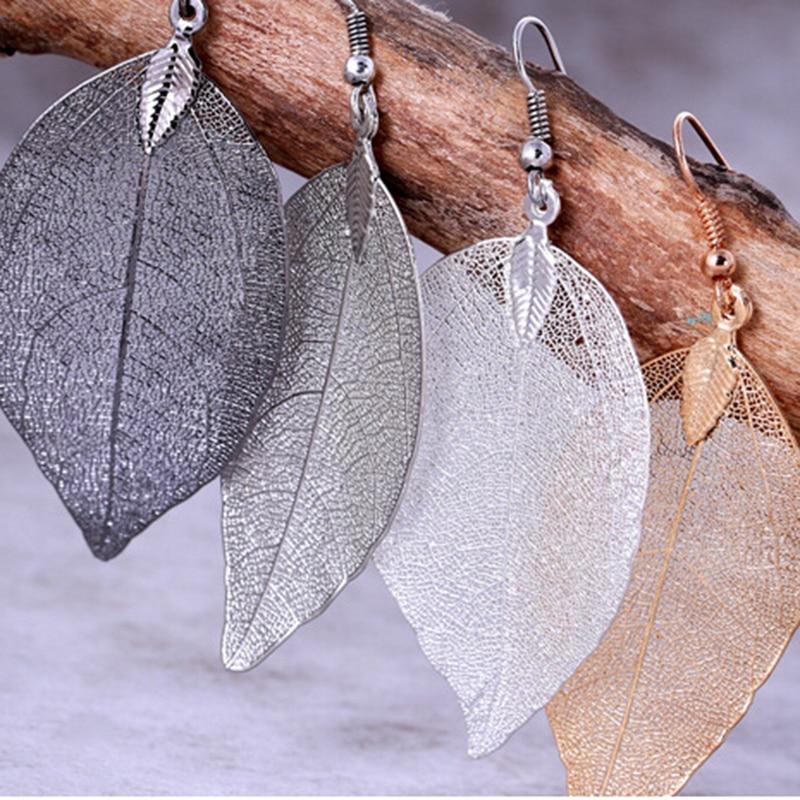 Big Korean Earrings Dissymmetry Natural  Leaf Earrings Drop for Women 2019 Pendientes mujer Earing Fashion Jewelry Z3
