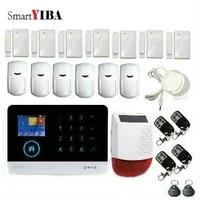SmartYIBA systeme dalarme anti-cambriolage WiFi 3G   Sirene de securite vocale pour domicile  italien  espagnol  russe  francais  neerlandais