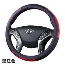Top Layer Leather Wheel Steering Covers  For Hyundai ELantra/i35 Sonata/i45 Creta/ix25 Tuscon/ix35 Accent Verna Solaris Santa Fe