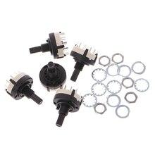 OOTDTY 5 pièces 4P3T 4 pôles 3 positions 6mm diamètre de larbre sélecteur de bande commutateur rotatif
