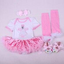 4PCs per Set Baby Girls' Halloween Ghost Pink White Tutu Dress Infant 1st Cosplay Costume Headband Shoes Leg Warmers