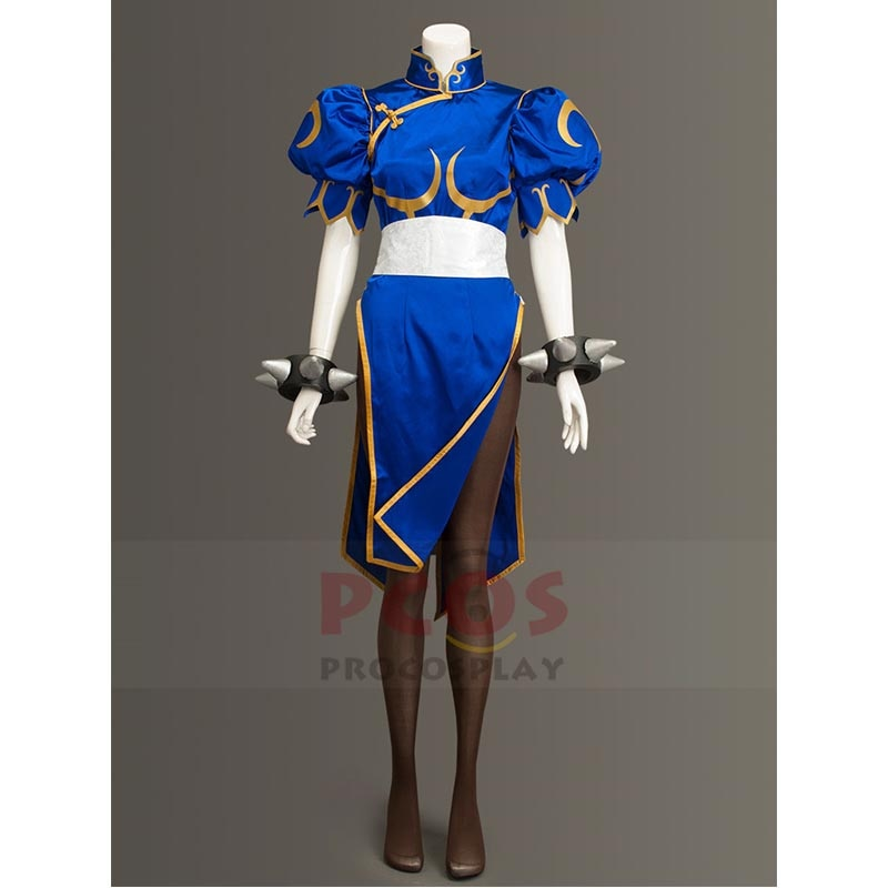 S f v icpo chun-li cosplay traje k.o. Traje mp004041 de s f chun-li