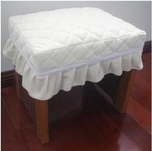 Сплошной цвет бархат Стеганный стул подушка для сидения коврик для макияжа скамейка теплая подушка коврик для дома