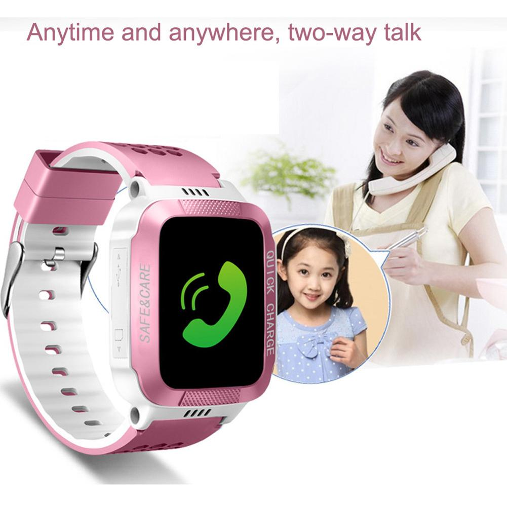 Hot Sale  For Children Y21S SOS GPS Locator Touch Screen Camera Lighting 2G Network Kids Smart Watch