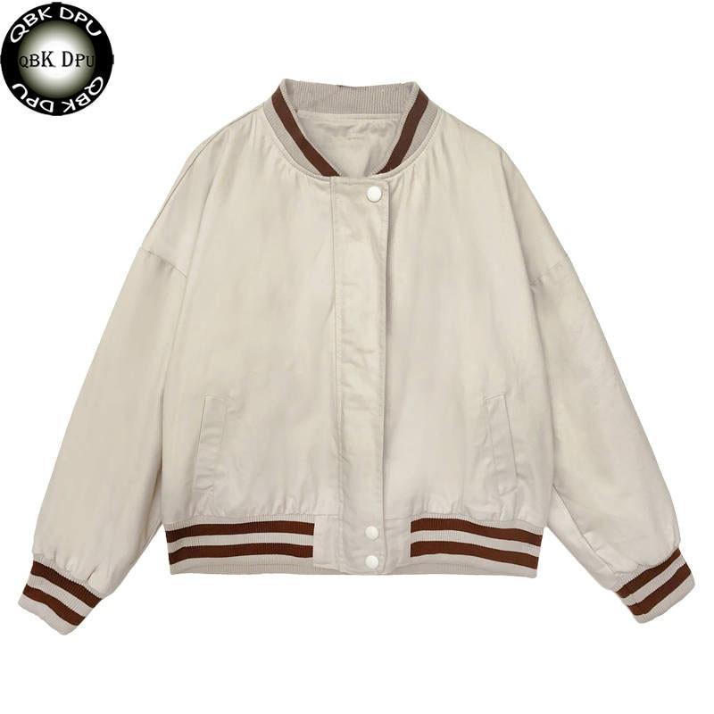 Casual Classical bomber ladies jacket women coat female autumn casual cardigan team patchwork Baseball o-neck tops bolero 2019