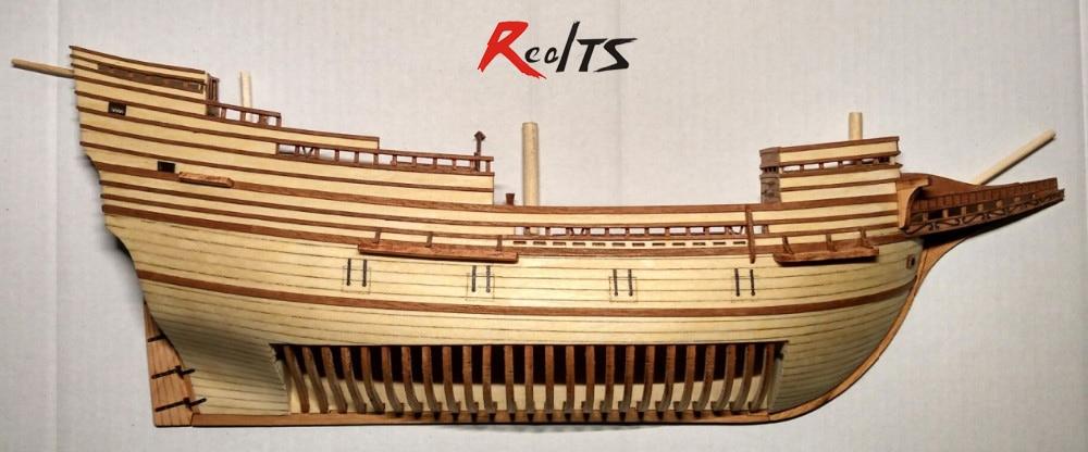 RealTS Scale 1/96 Mayflower section model ship kit wood sailing ship kit laser cut boat kit Wooden Ship Kits Educational Toy