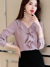 Women's Blouse Spring Summer Fashion Woman Blouses 2019 Vintage Korean Office Blouse Women Tops White Shirt Camisas Mujer MY3026