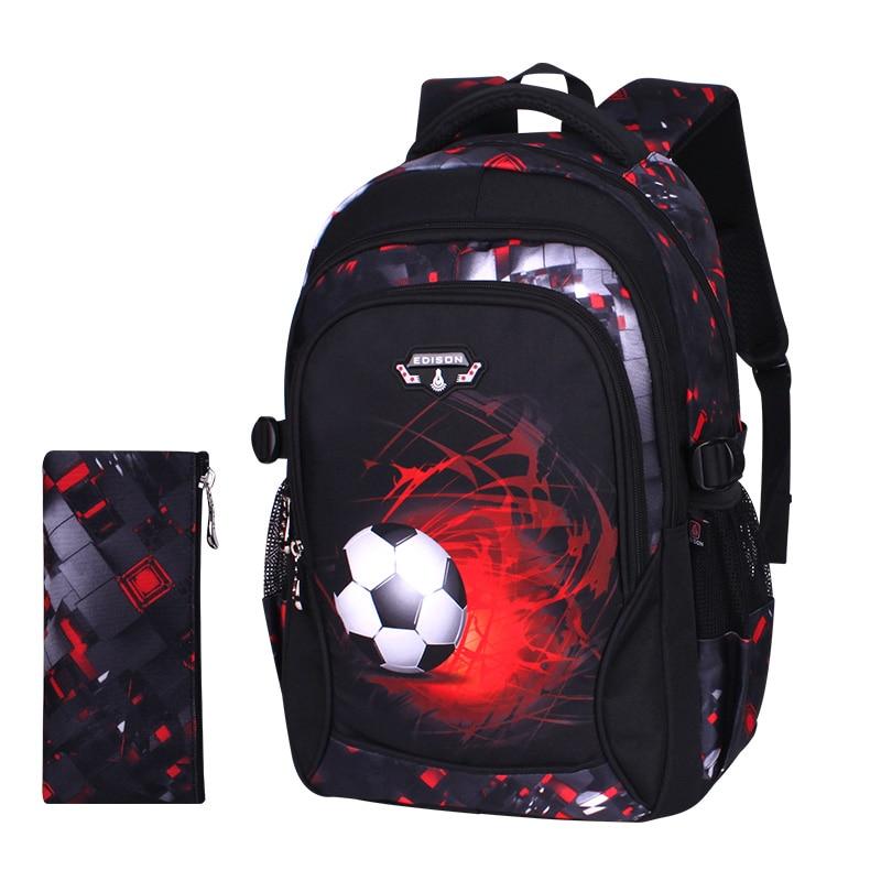 Mochila con impresión de fútbol, mochila infantil de anime, bolsa de viaje, bolsas escolares para adolescentes, mochila escolar infantil