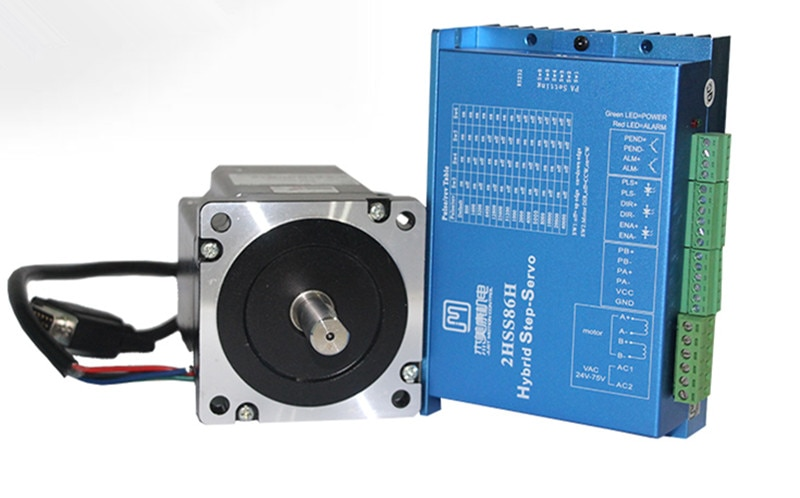 2 fases NEMA34 4.5Nm 566ozf. En kit de controlador de servomotor paso a paso de circuito cerrado JMC 86J1880EC-1000 + 2HSS86H