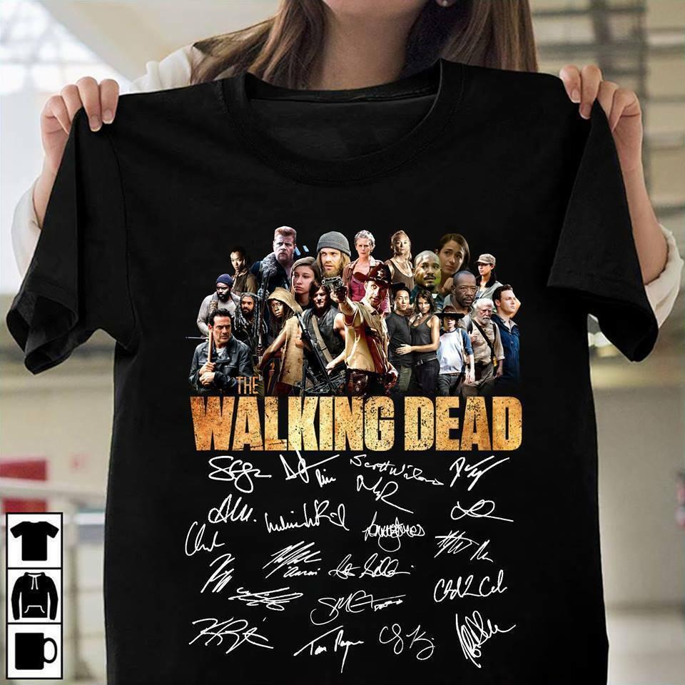 2019-freddo-the-walking-dead-firma-amanti-t-shirt-unisex-nero-tee