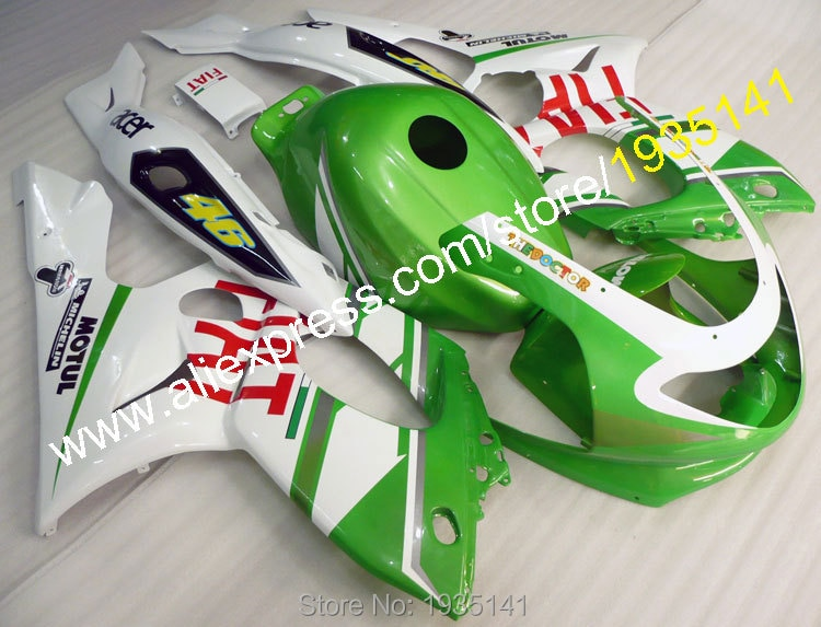Blanco verde carenado de ABS kit de carrocería para Yamaha yzf600r thundercat 1997-2007 YZF 600R 97 ~ 07 Piezas de motocicleta Yzf 600 R