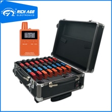 Equipo de guía de Audio RichiTek portátil 2 transmisores + 38 receptores para campamento de verano con micrófono condensador