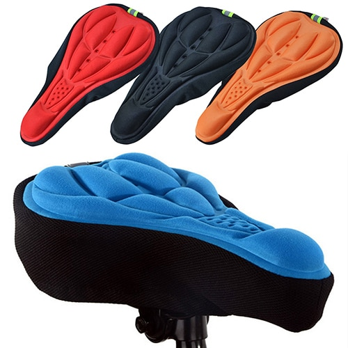 Asiento de bicicleta suave 3D, accesorios de asiento de bicicleta, asiento de silicona para ciclismo, cojín, funda de asiento, asiento, asiento para bicicleta