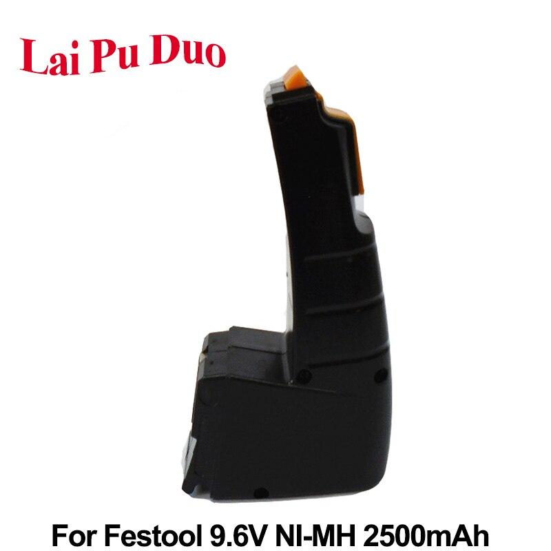 Замена 9,6 V 2.5Ah Ni-MH аккумулятор для FESTOOL BPH9.6C, FSP-487512, FSP-488437, CDD9.6, CCD9.6, CCD9.6ES, CCD9.6FX