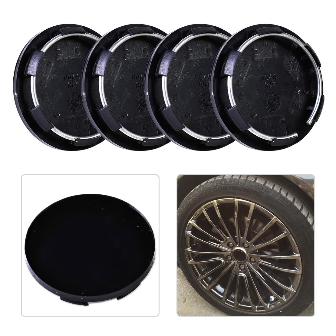 Beler 4 Uds 50mm rueda de plástico Centro Juego de tapacubos Ajuste de neumático llanta, cubo tapas cubiertas coche Auto para VW Audi Ford Toyota Chevrolet Nissan